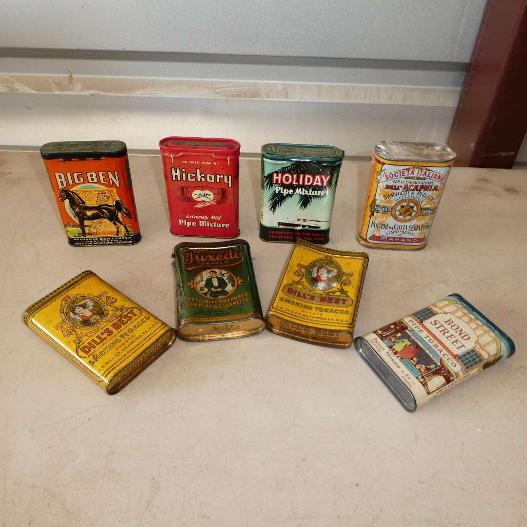 Lot # 310 - Variety of Vintage Tobacco Tins (See all Photos)(Some Still Sealed) (main image)