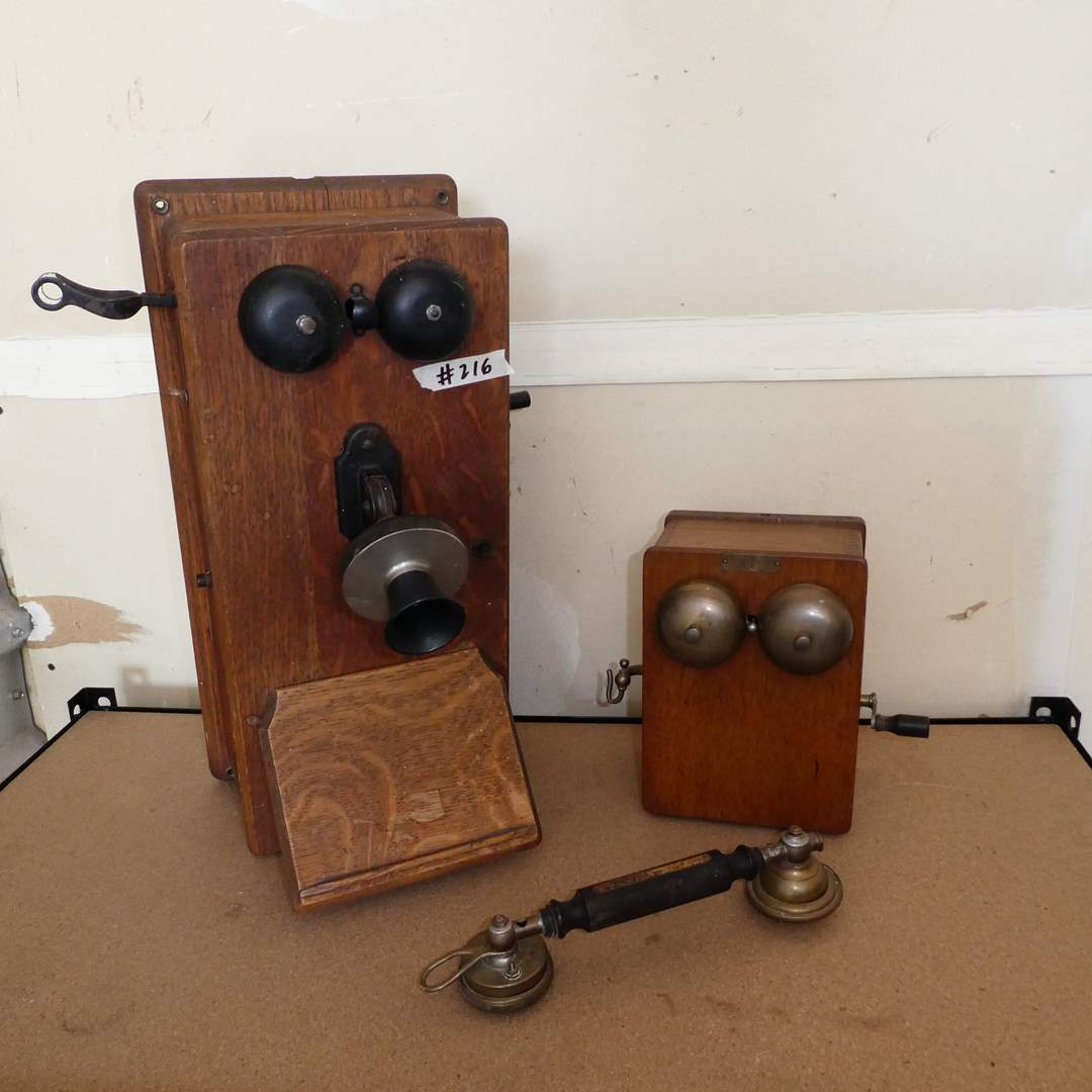 Lot # 216 - Antique Phones (For Restoration or Display) (main image)