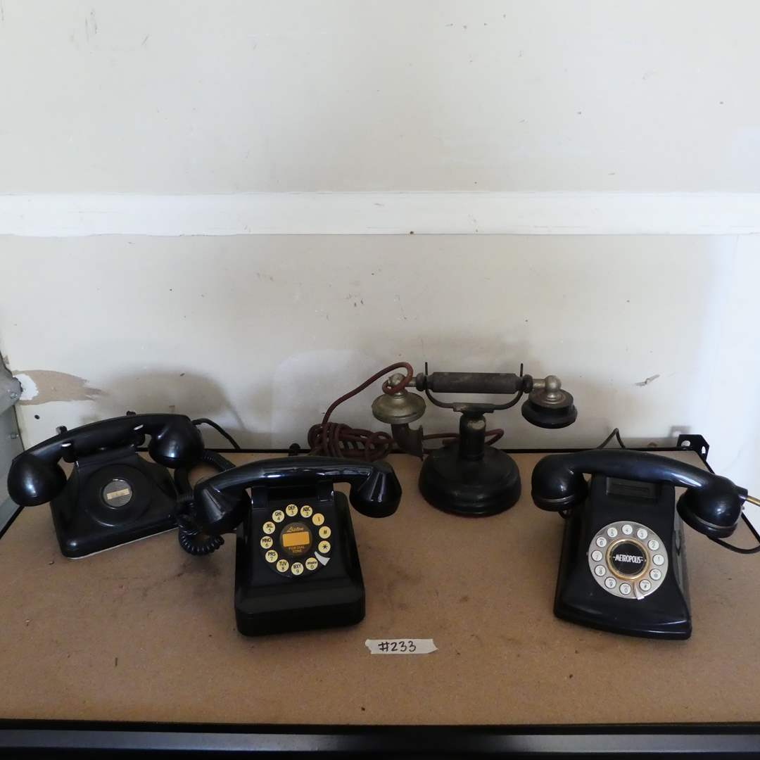 Lot # 233 - Variety of Vintage Phones  (main image)