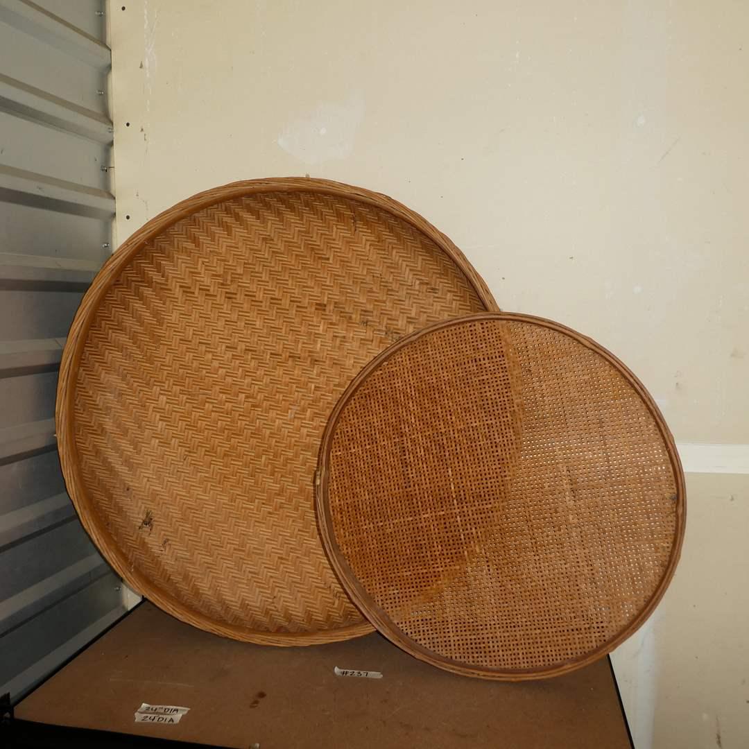 Lot # 237 - Two Vintage Winnowing Baskets  (main image)