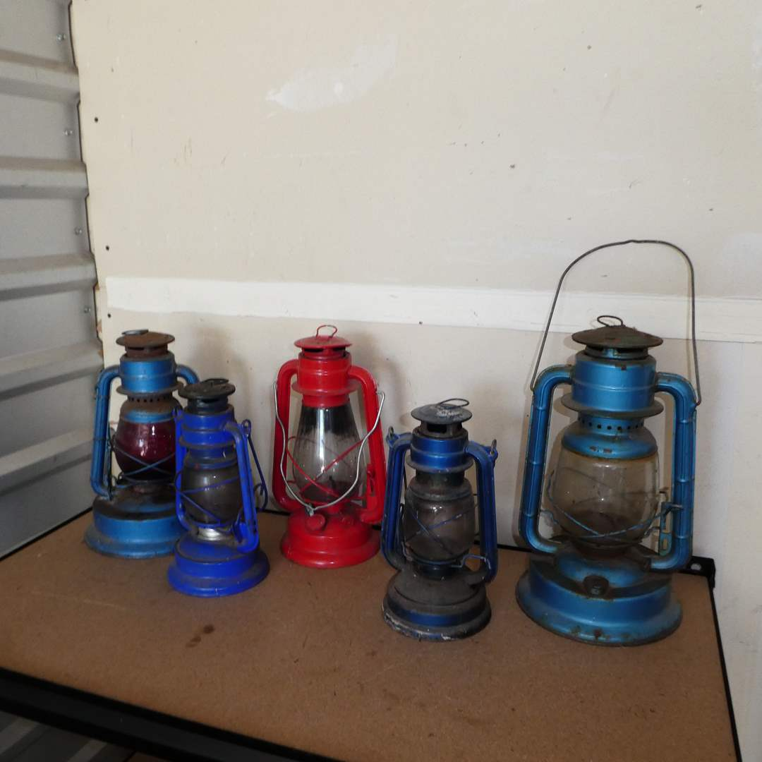 Lot # 240 - Vintage Railroad Lanterns  (main image)