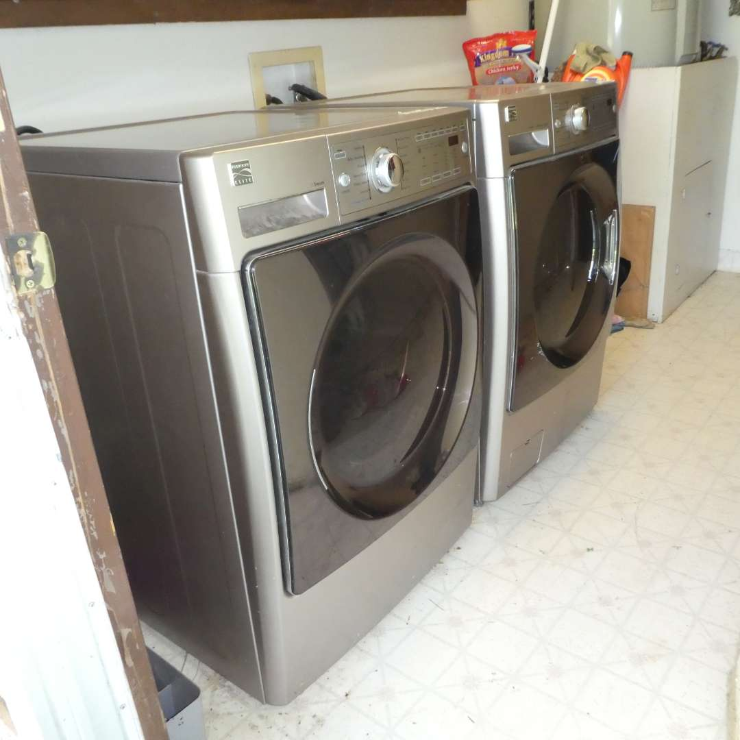 Lot # 4 - Kenmore Elite Front Load Washer and Dryer (Electric) (main image)