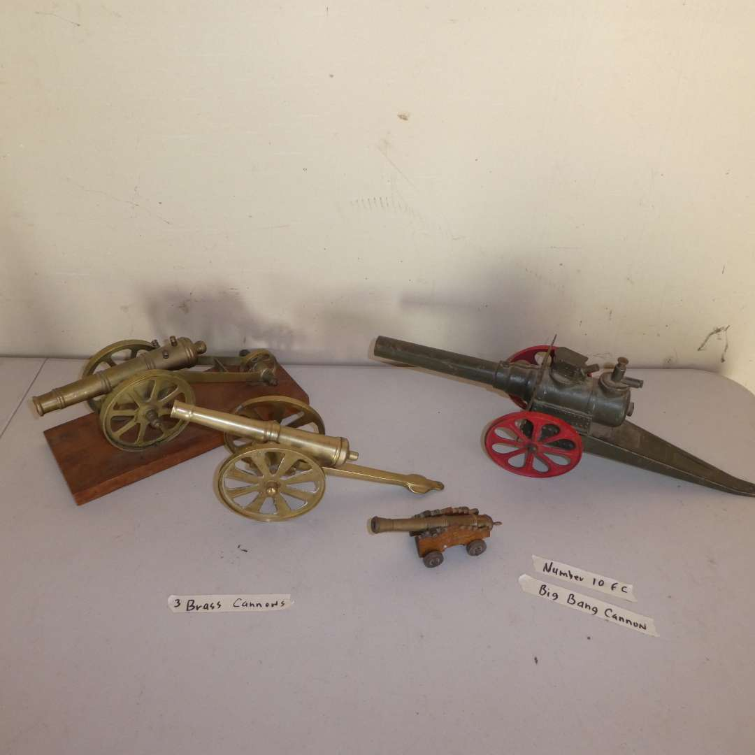 Lot # 14 -  Number 10 FC Big Bang Cannon and Three Brass Cannons