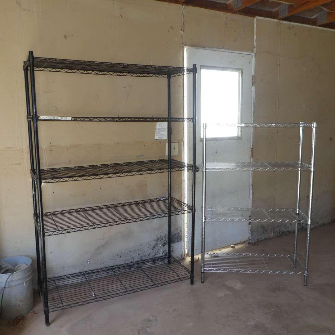 Lot # 15 - 6FT Metal Storage Rack and 4 1/2FT Metal Storage Rack (main image)