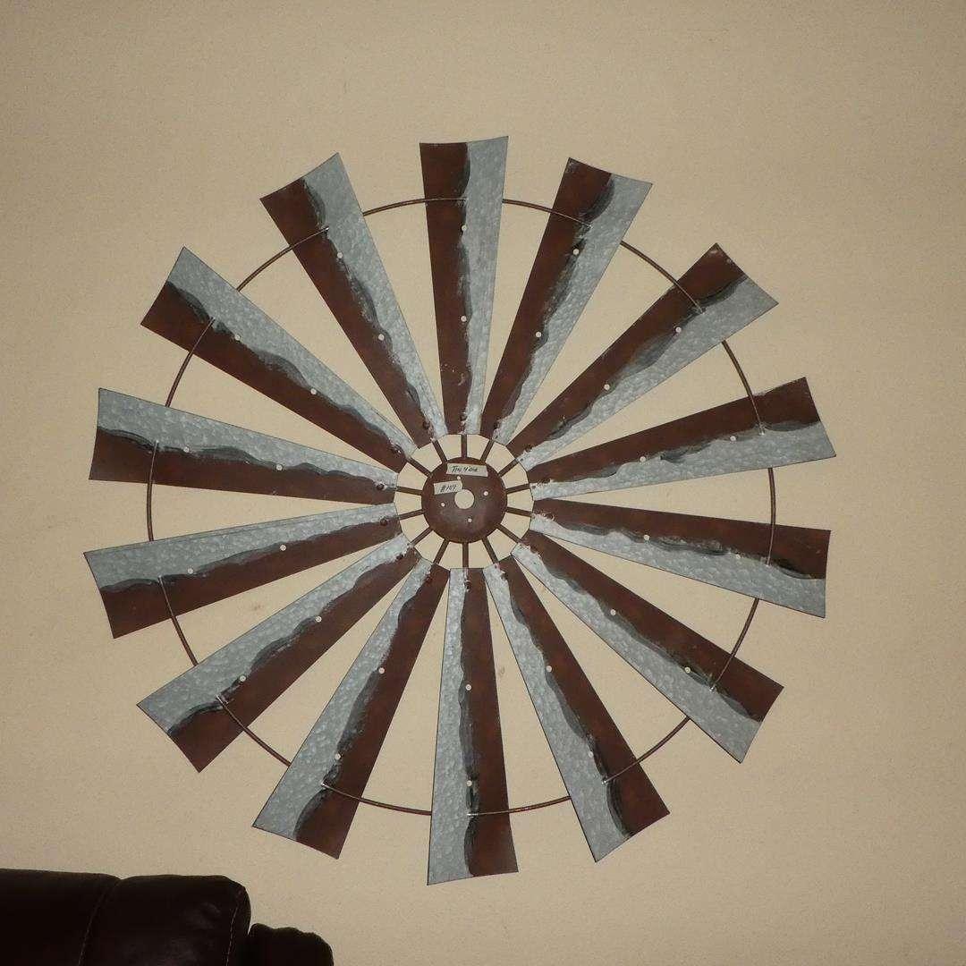 Lot # 104 - Decorative Tin Windmill Blades - Wall Art (main image)