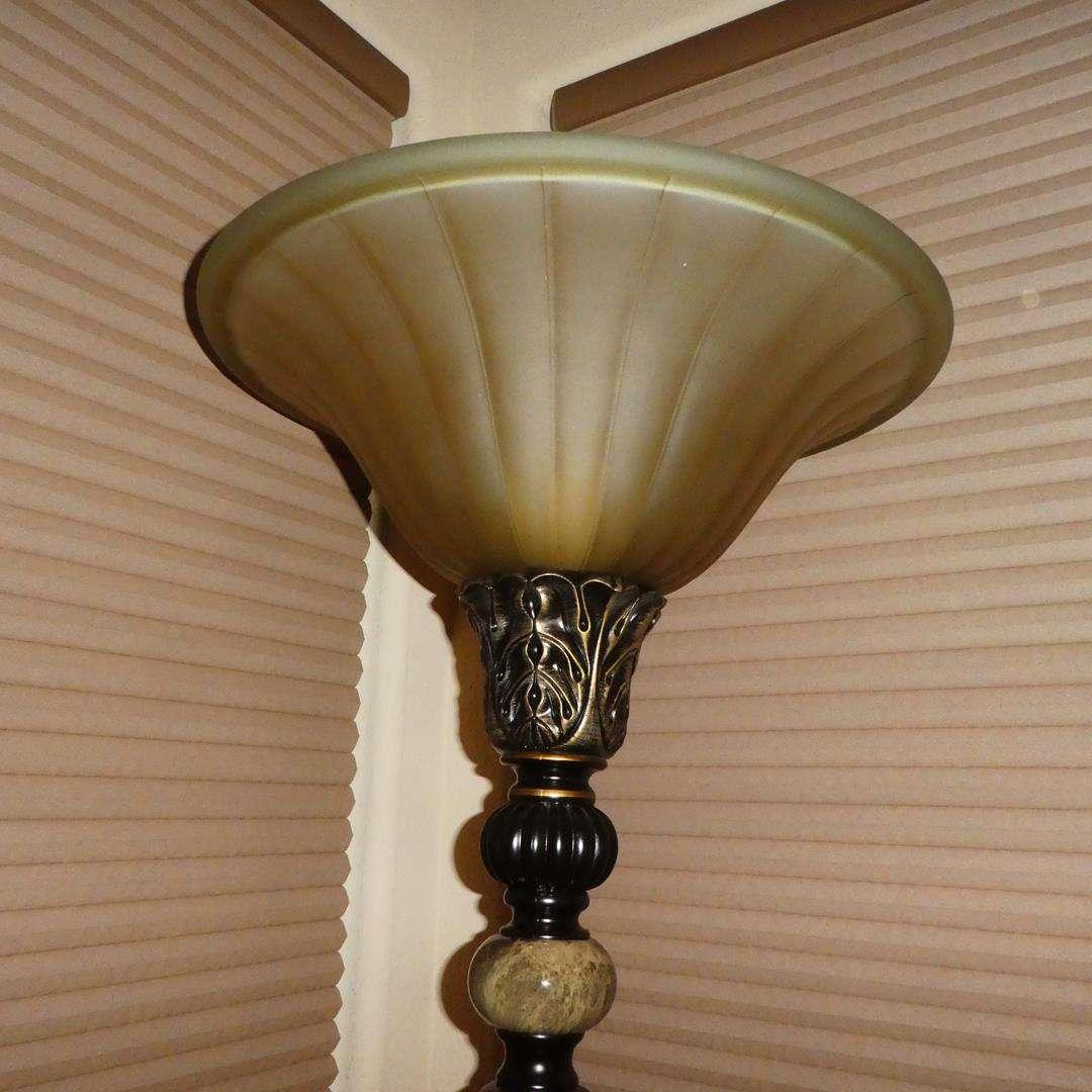 Lot # 105 - Lovely Resin & Glass Floor Lamp (main image)