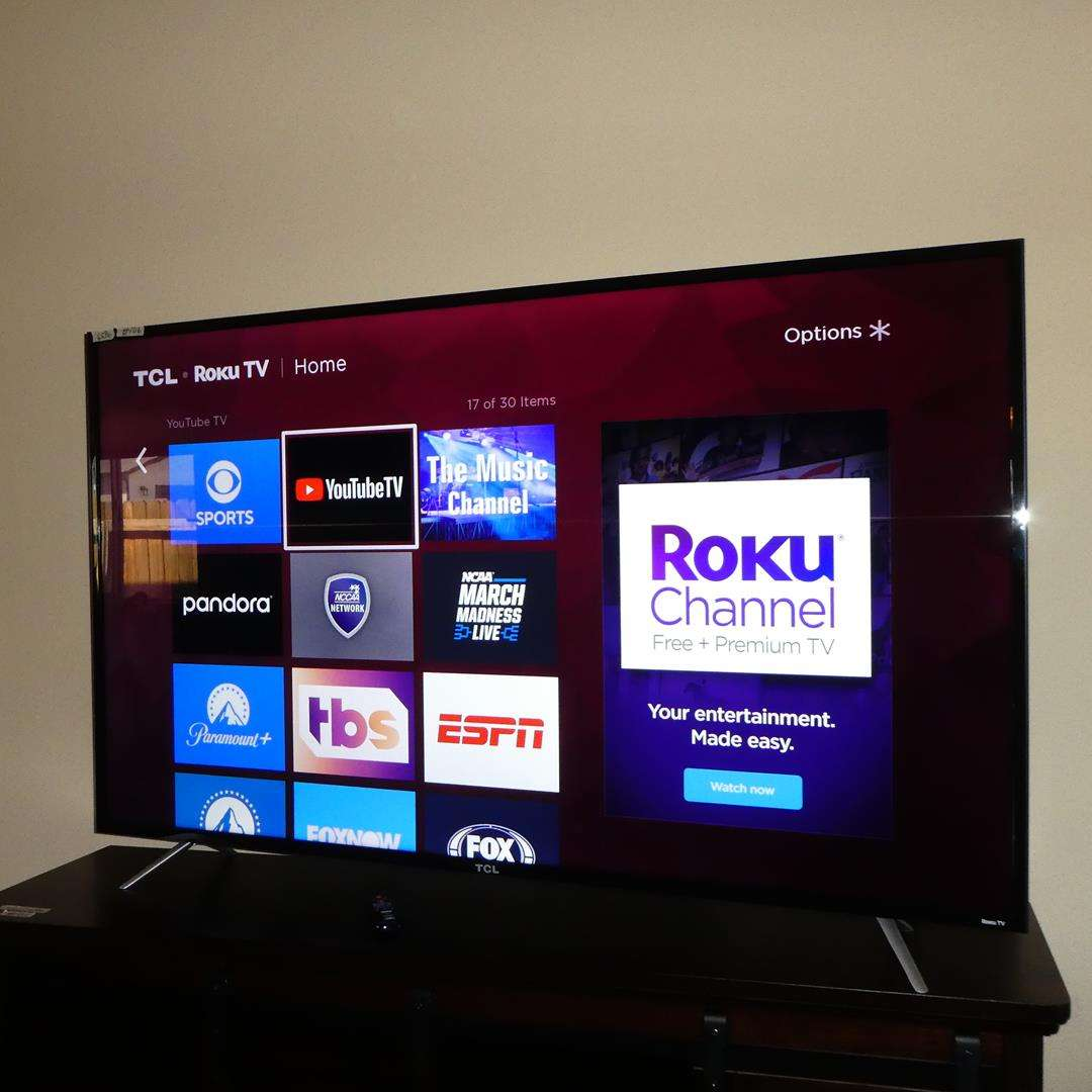 "Lot # 106 - 65"" TCL Roku 4K Smart TV w/Remote & Original Box (main image)"
