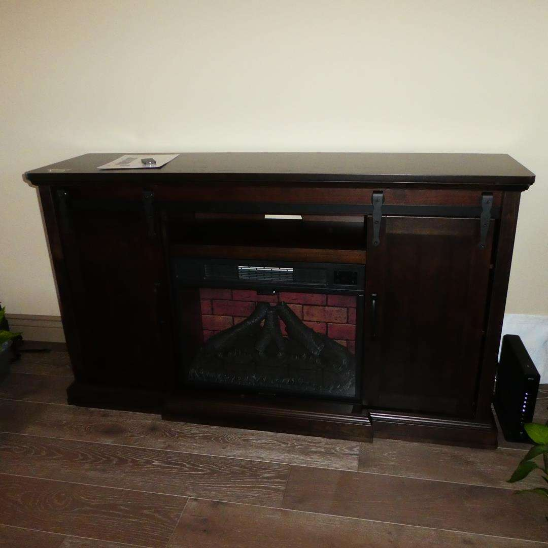 Lot # 107 - Wi-Fi Smart LED Electric Fireplace TV Stand (main image)