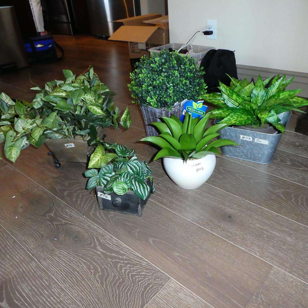 Lot # 116 - Decorative Artificial Plants - One Topiary w/Lights (main image)