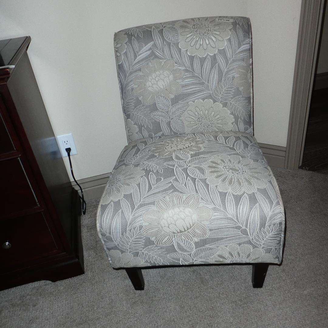 Lot # 124 - Upholstered Armless Sitting Chair (main image)