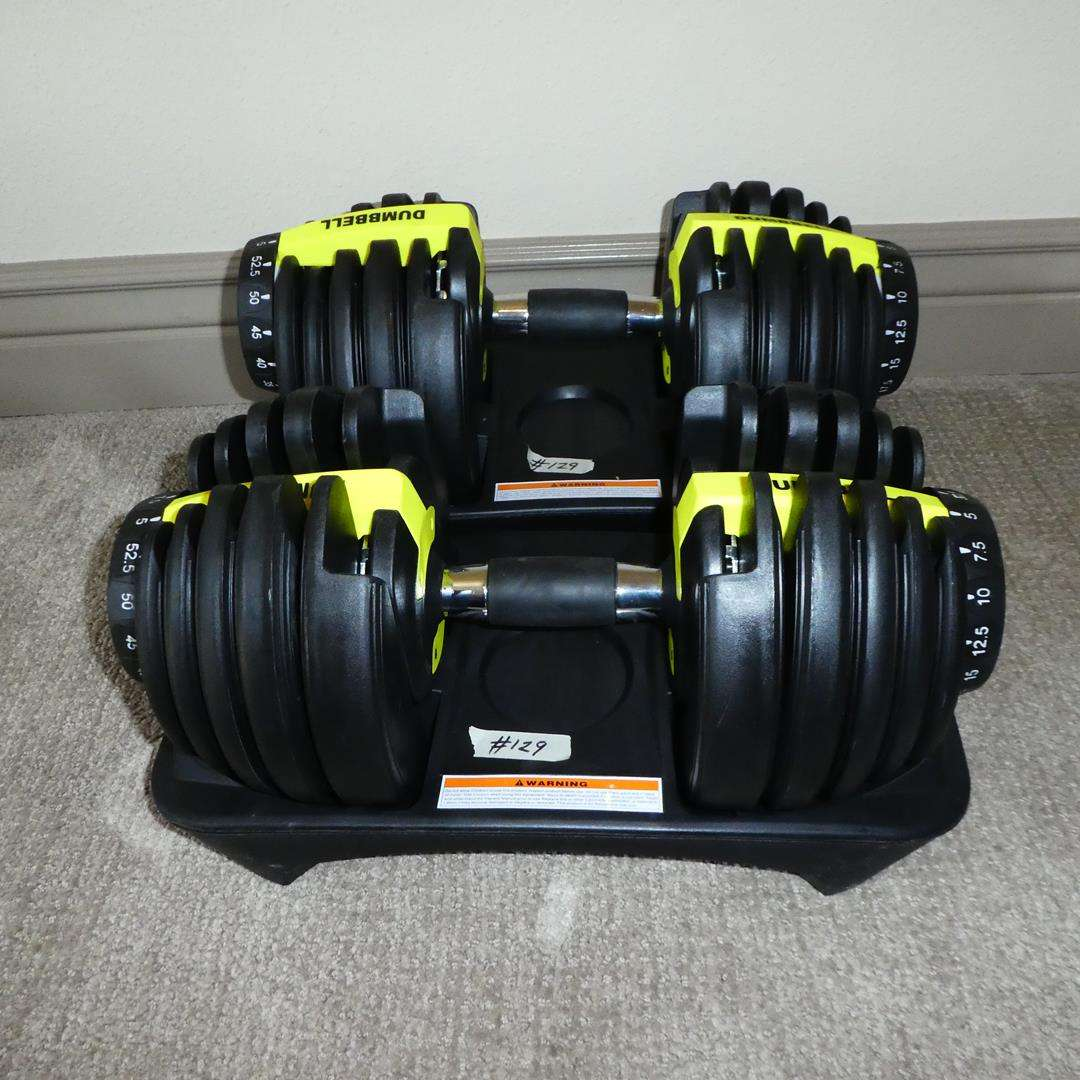 Lot # 129 - Two Sets of Dumbbells (main image)