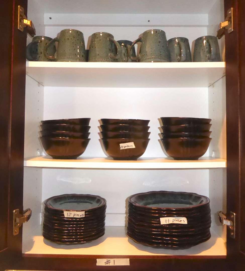 Lot # 1 - Elama Dishwasher Safe Plates, Bowls & Mugs  (main image)