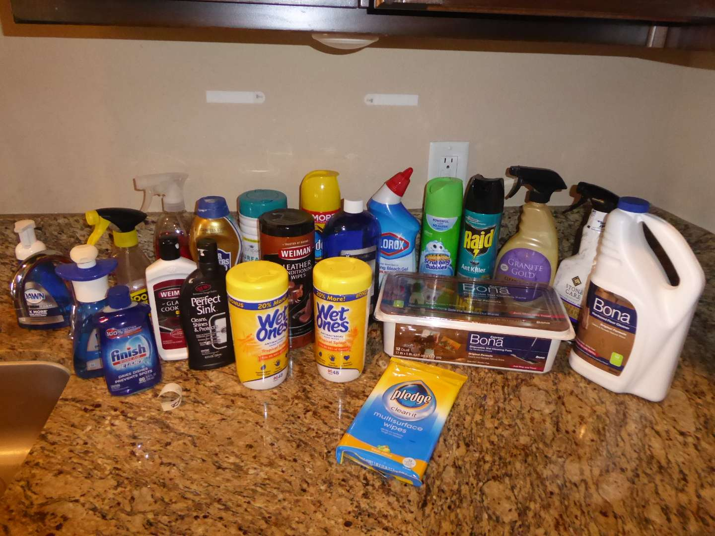Lot # 3 - Household Cleaners & Products (More Than Half Full Or Better) (main image)