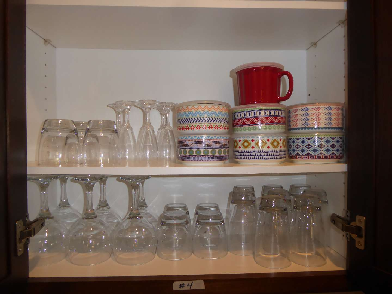 "Lot # 4 - Cute ""Signature"" Lidded Bowls, Drinking Glasses & Stemware  (main image)"