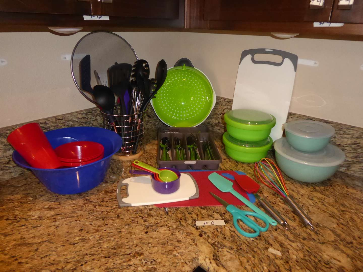 Lot # 8 - Flatware, Kitchen Utensils, Storage Containers & More  (main image)
