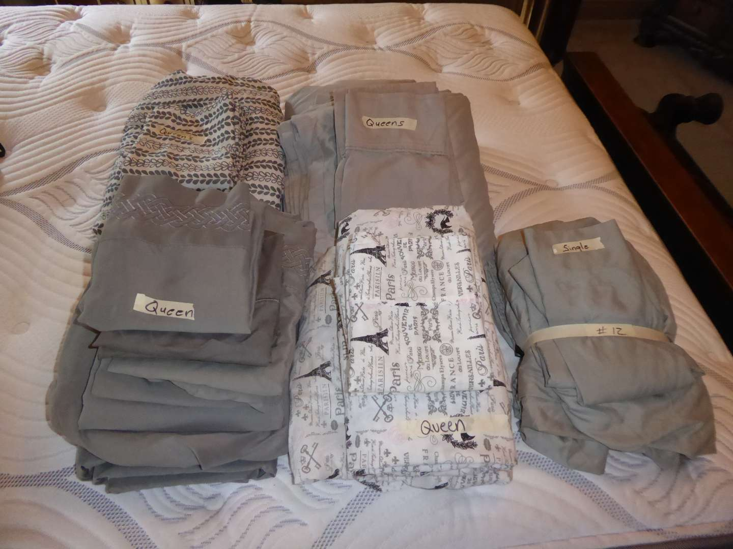 Lot # 12 - Nice Sheets (Mostly Queen) (main image)