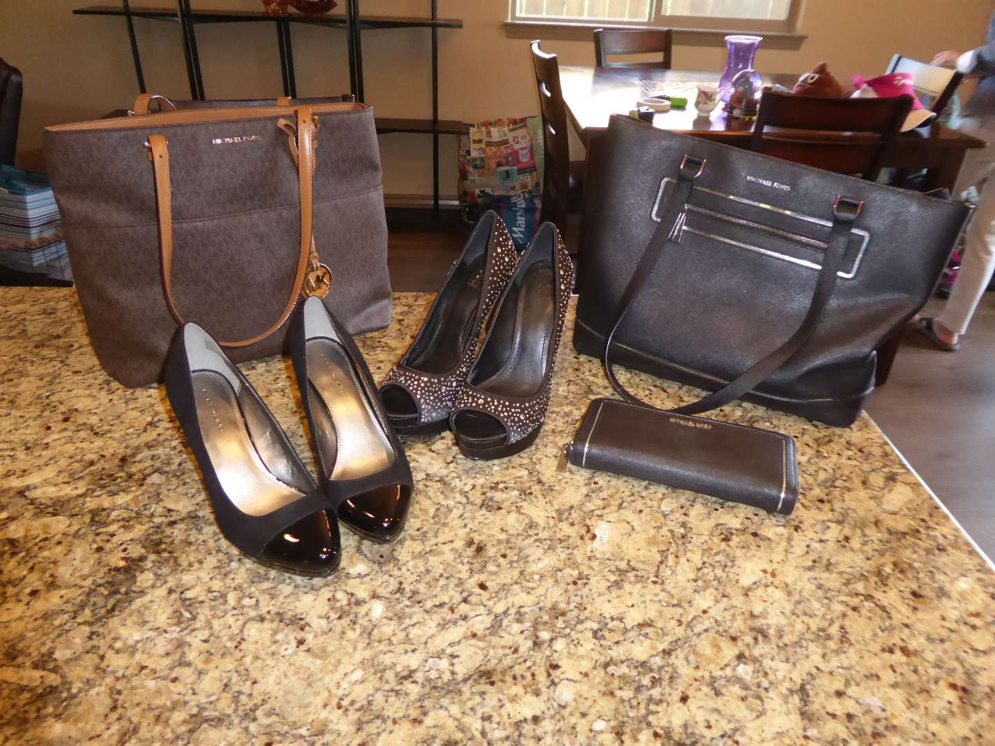 Lot # 21 - Two Michael Kors Purses & Two Pairs Of High Heels  (main image)