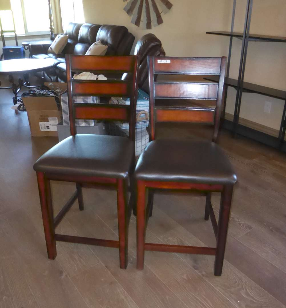 Lot # 23 - Two Bar Stool Chairs (Match Chairs In Lot 13)   (main image)