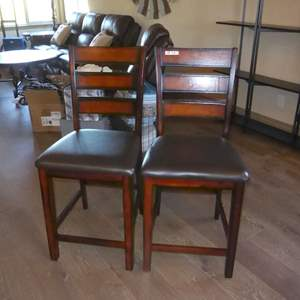 Auction Thumbnail for: Lot # 23 - Two Bar Stool Chairs (Match Chairs In Lot 13)