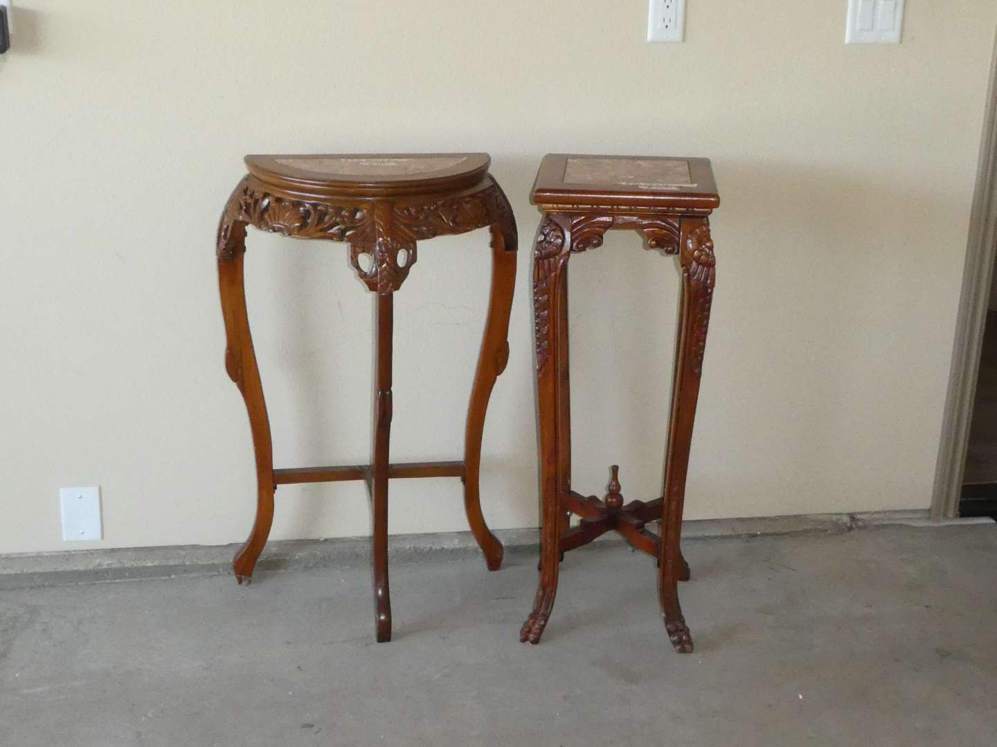 Lot # 252 - Two French Style Side Tables/Console Table (main image)