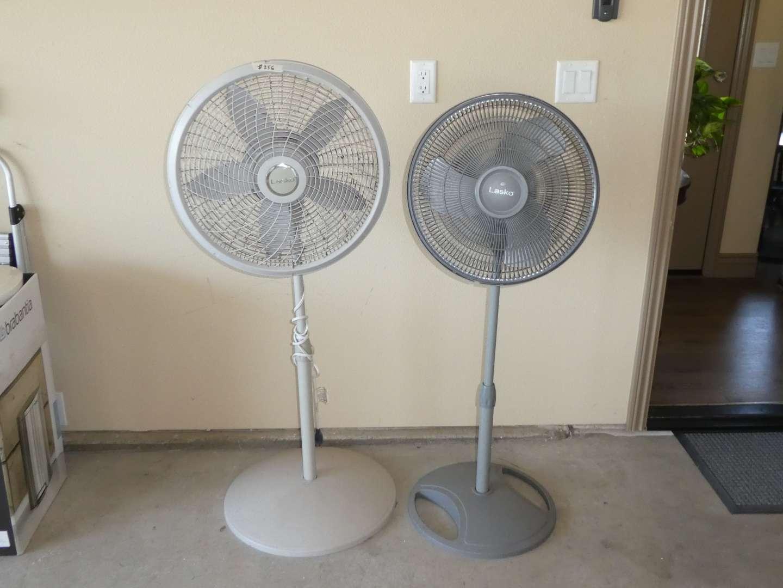 Lot # 256 - Two Adjustable Lasko Fans  (main image)