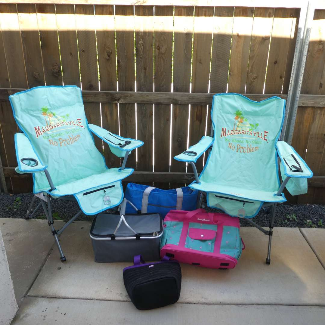 Lot # 220 - Two Margaritaville Outdoor Folding Chairs, Insulated Picnic Baskets and More (main image)