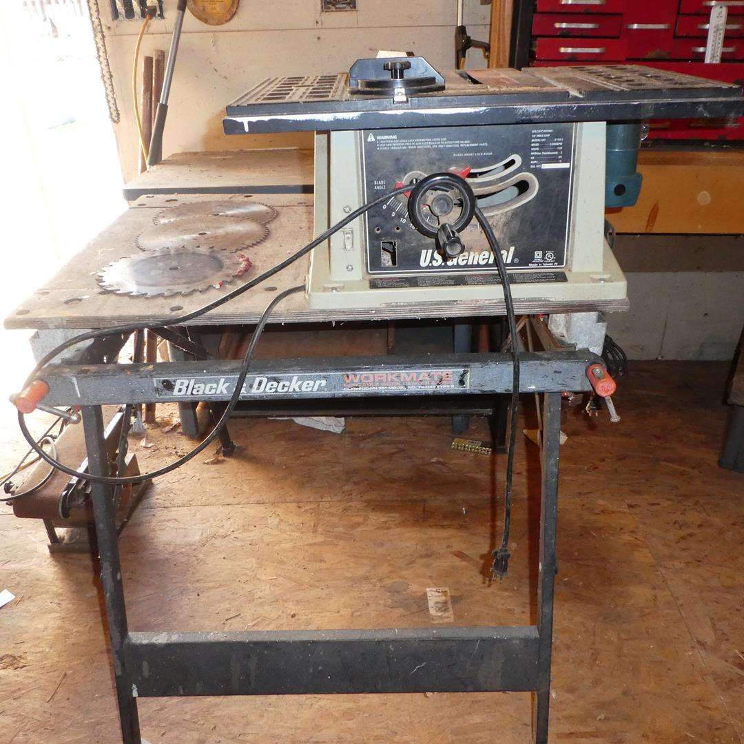 Lot # 100 - U.S. General Table Saw & Black & Decker Workmate (main image)