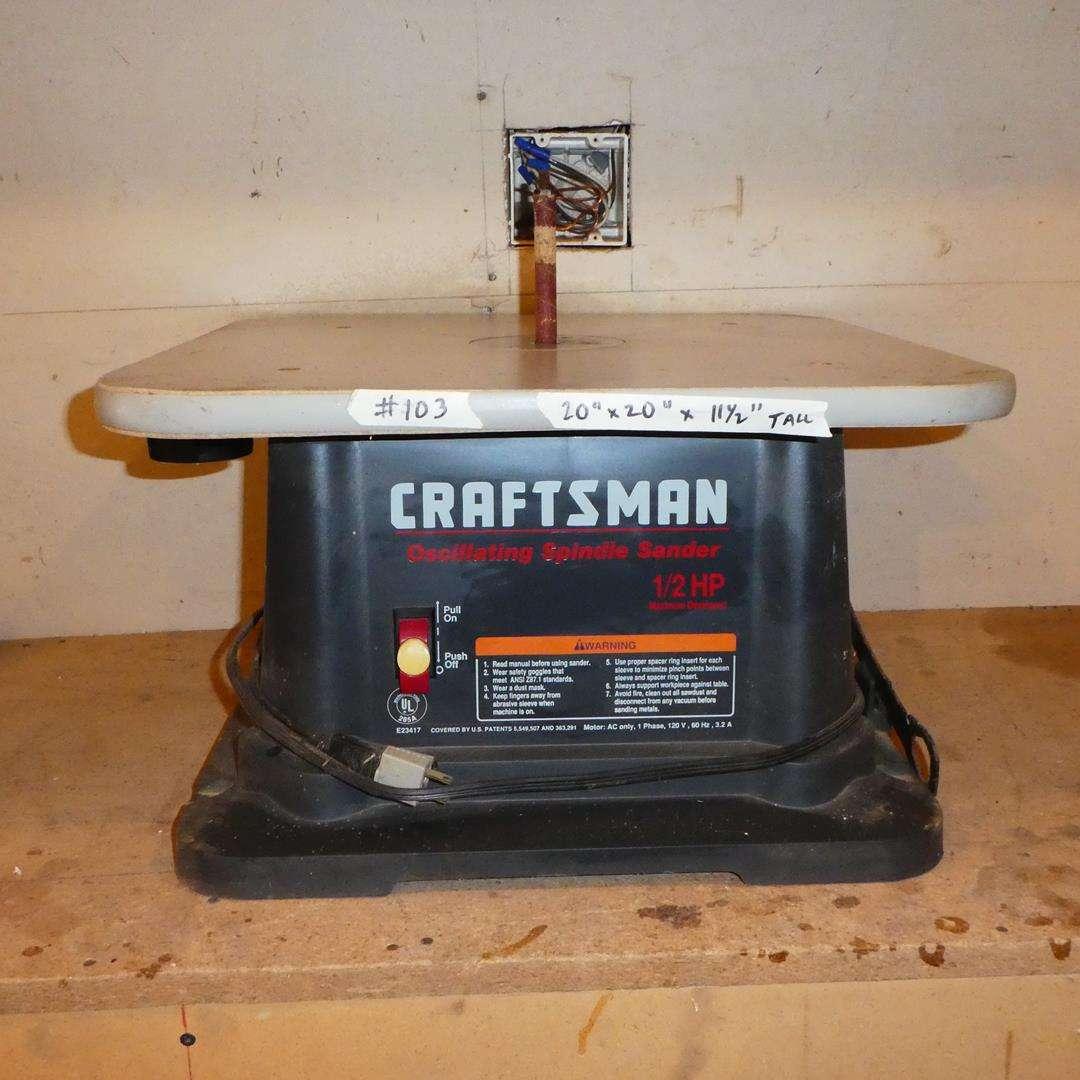 Lot # 103 - Craftsman Oscillating Spindle Sander ½ HP (main image)