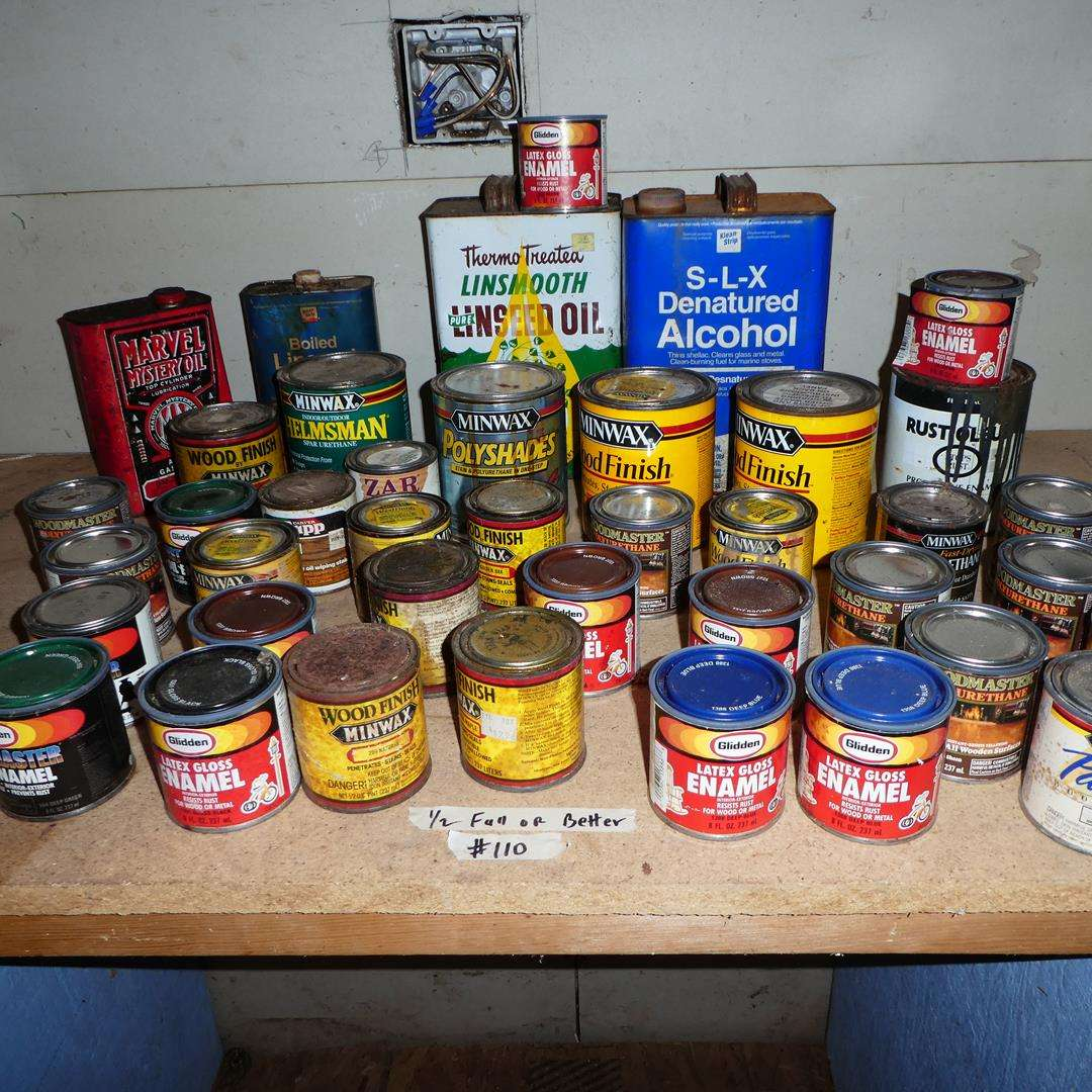 Lot # 110 - Assorted Enamels & Stains (main image)