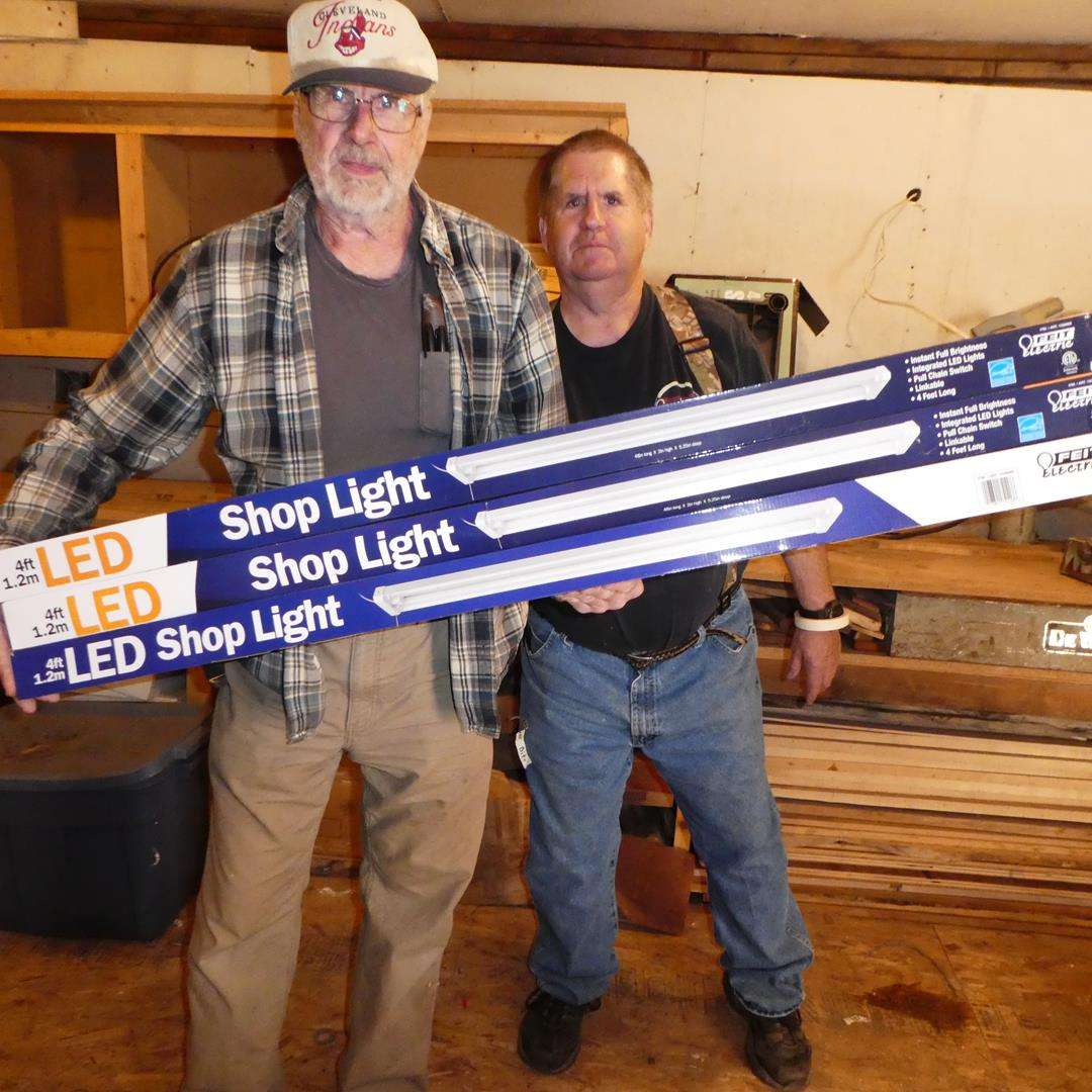Lot # 125 - Three 4' LED Shop Lights (NIB) (main image)