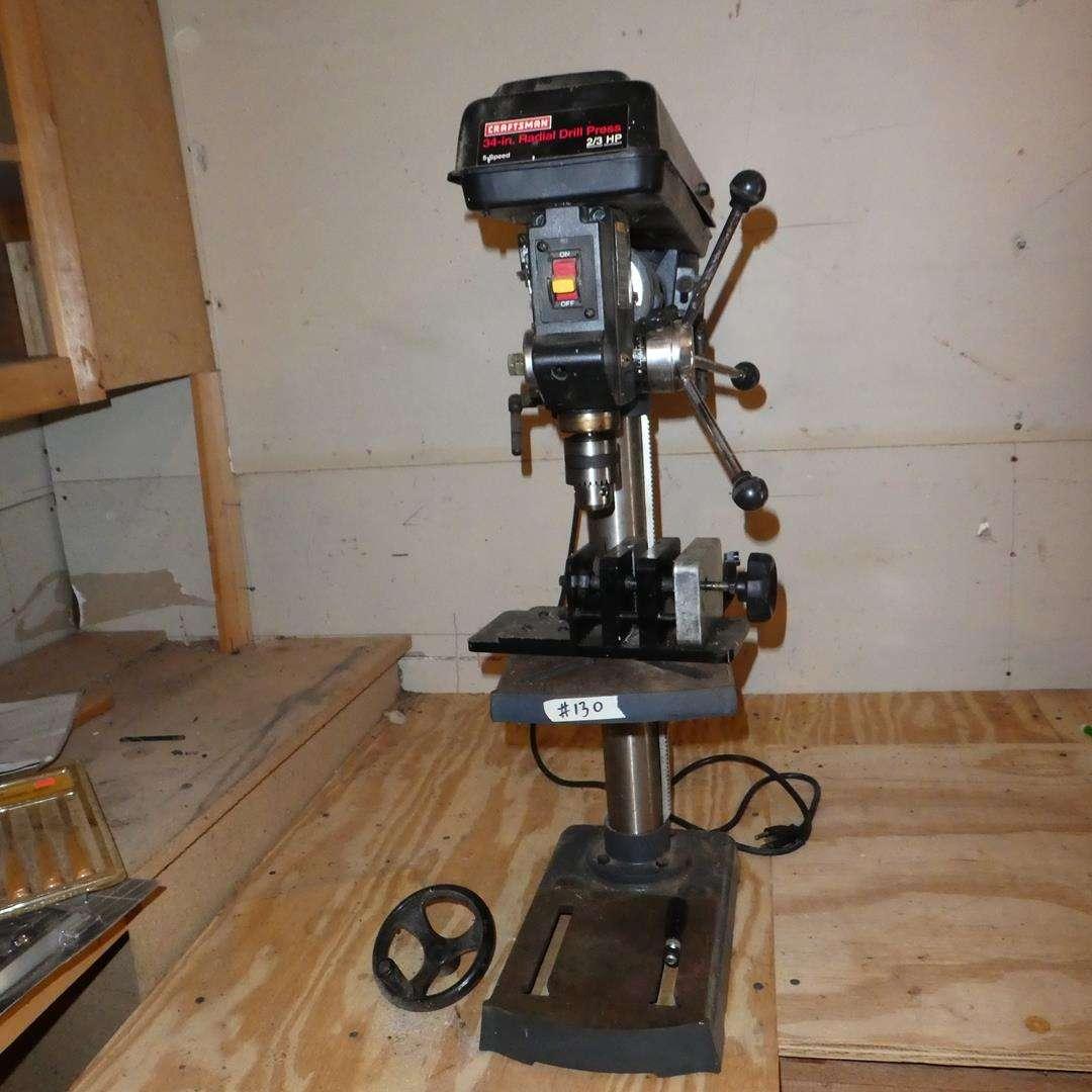 "Lot # 130 - Craftsman 34"" Radial Drill Press (main image)"