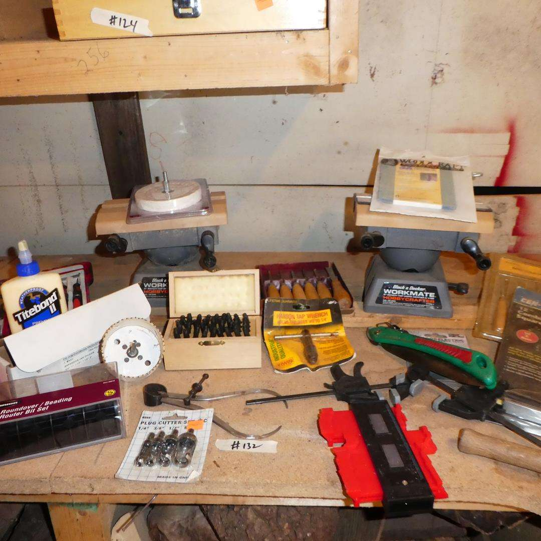 Lot # 132 - Assorted Wood Working Tools (main image)