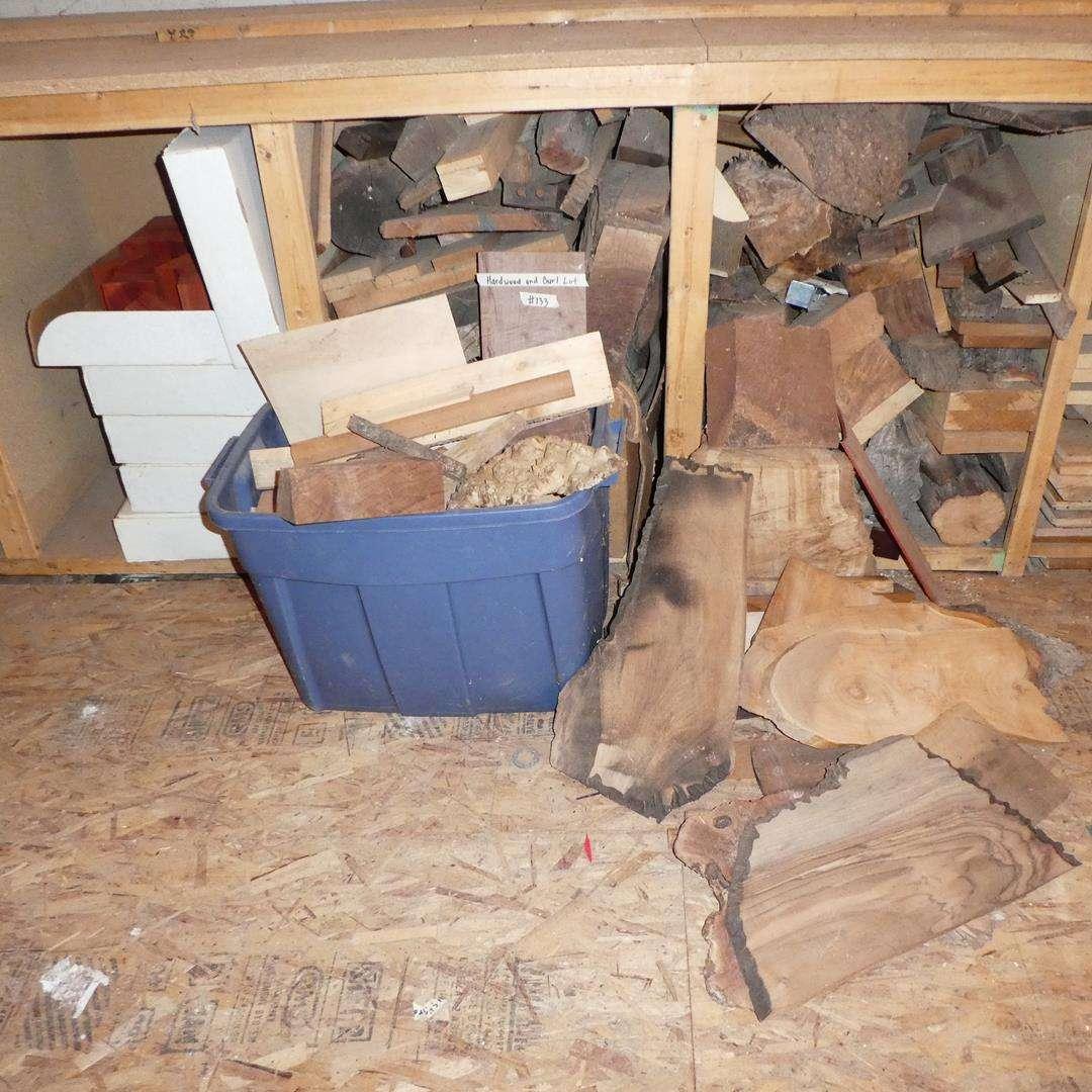 Lot # 133 - Hardwood & Burl Wood (main image)