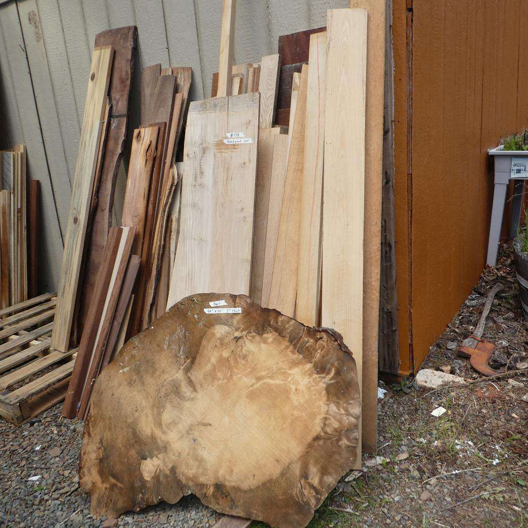 Lot # 138 - Burl Wood & Hardwood Lot (main image)