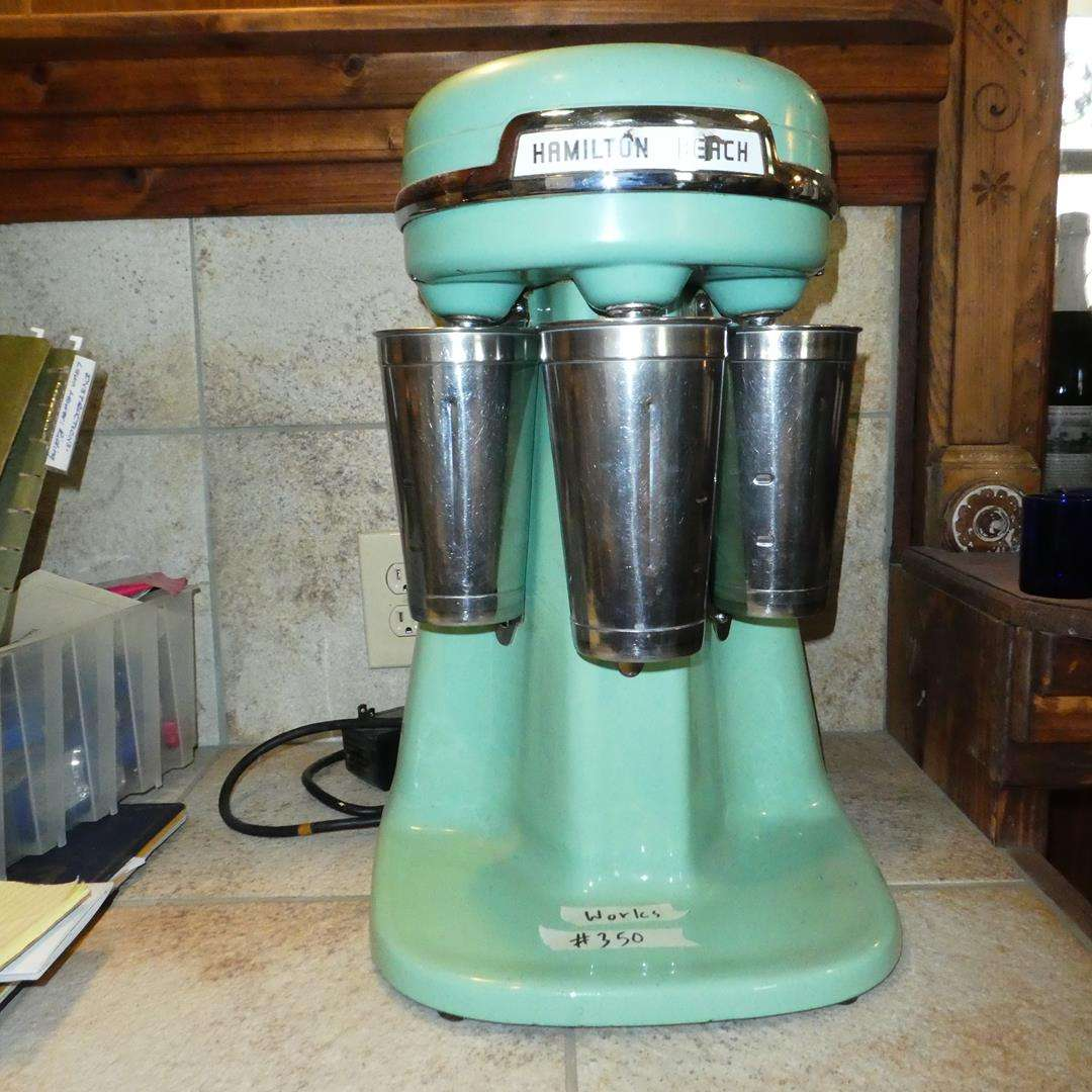 Lot # 350 - Vintage 'Hamilton Beach' Triple Head Milkshake Mixer - Works (main image)
