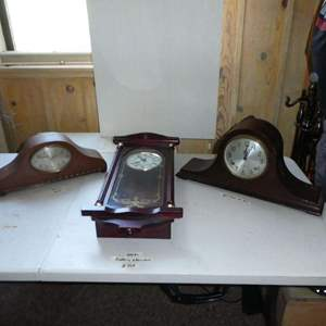 Auction Thumbnail for: Lot # 359 - Vintage GE Westminster Chime Electric Clock, Daniel Dakota Westminster Chime Quartz Clock & Sessions Mantle Clock