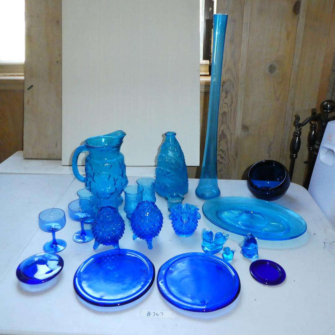 Lot # 367 - Blue Glass Collection (main image)