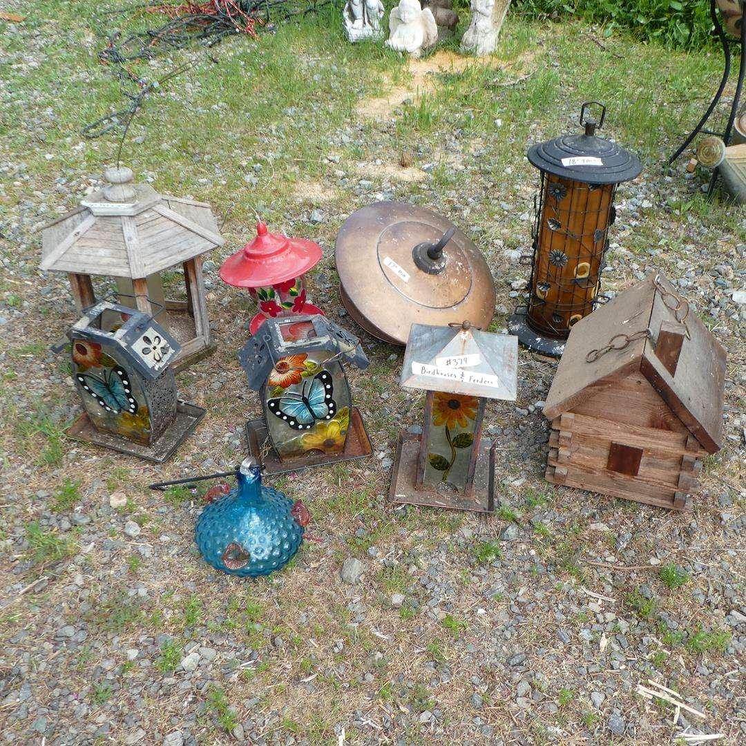 Lot # 379 - Bird Houses & Bird Feeders (main image)