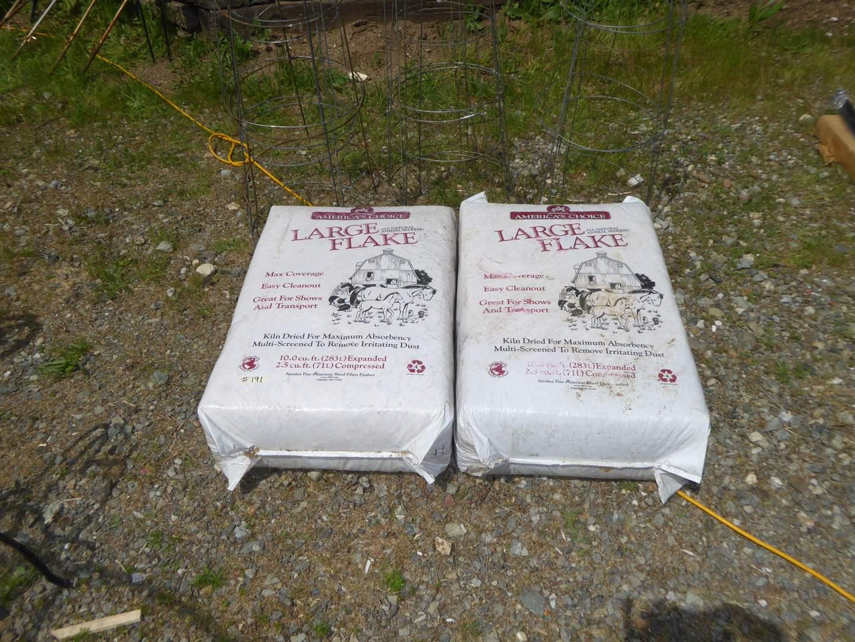 Lot # 191 - Two Bags Large Flake Animal Bedding  (main image)