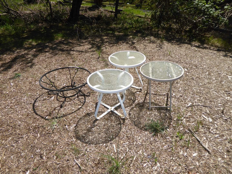 Lot # 200 - Three Small Outdoor Tables  (main image)