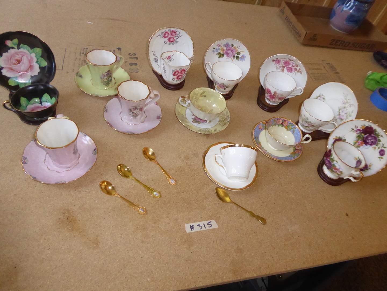 Lot # 315 - Tea Cups & Saucers  (main image)