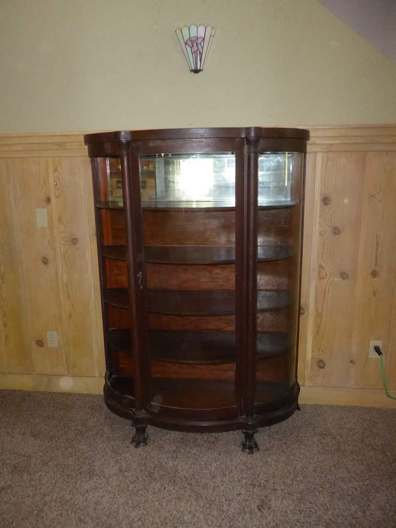 Lot # 318 - Antique Curio Cabinet (Missing Side Panel of Glass) (main image)