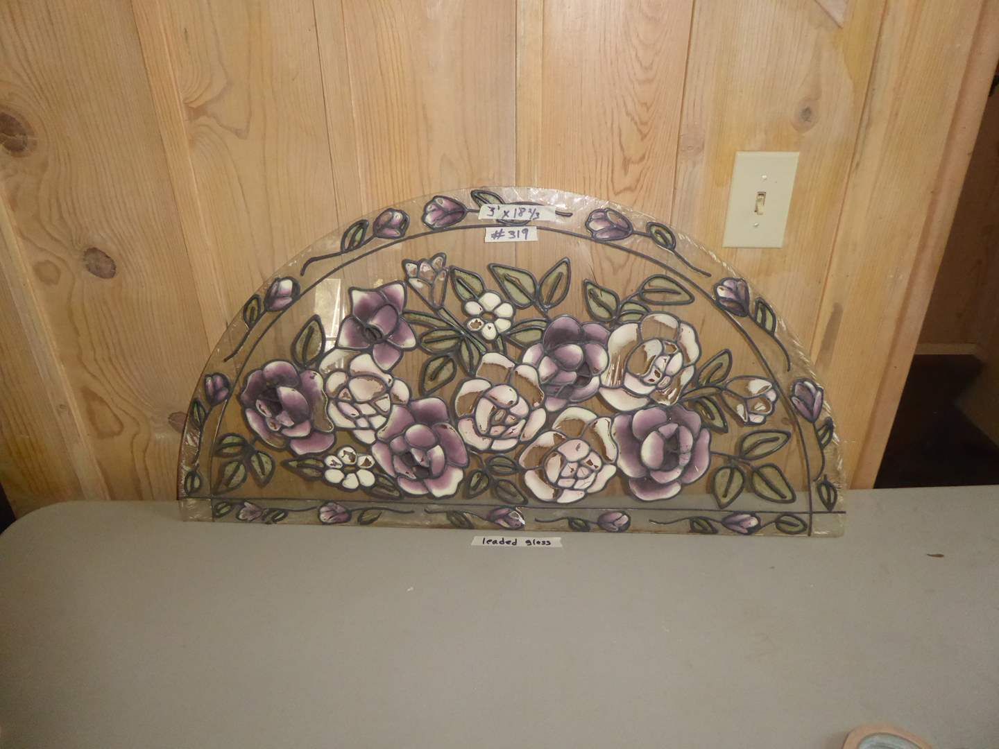 Lot # 319 - Painted Leaded Glass  (main image)
