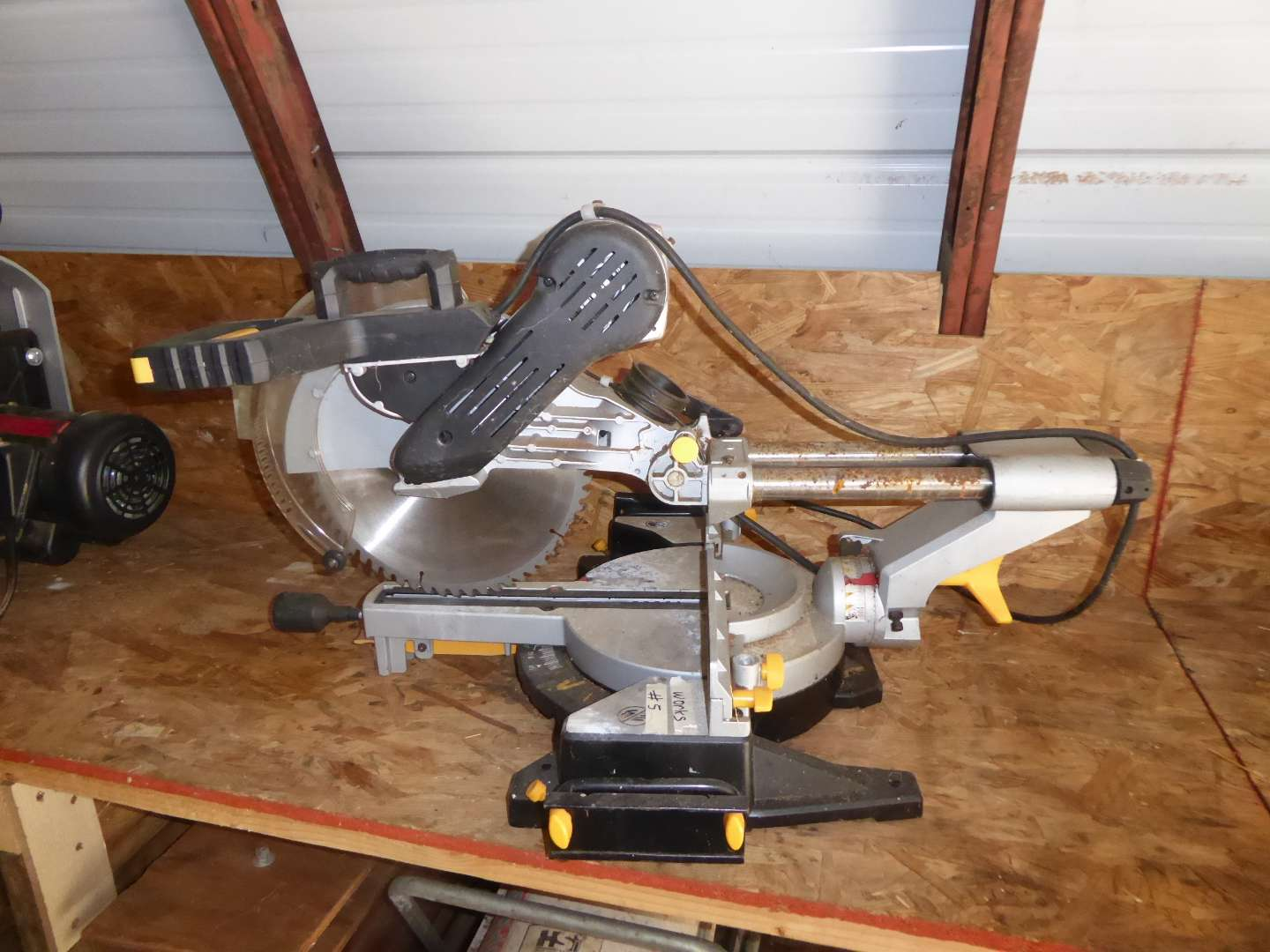 Lot # 5 - Chicago Electric Double Bevel Miter Saw  (main image)