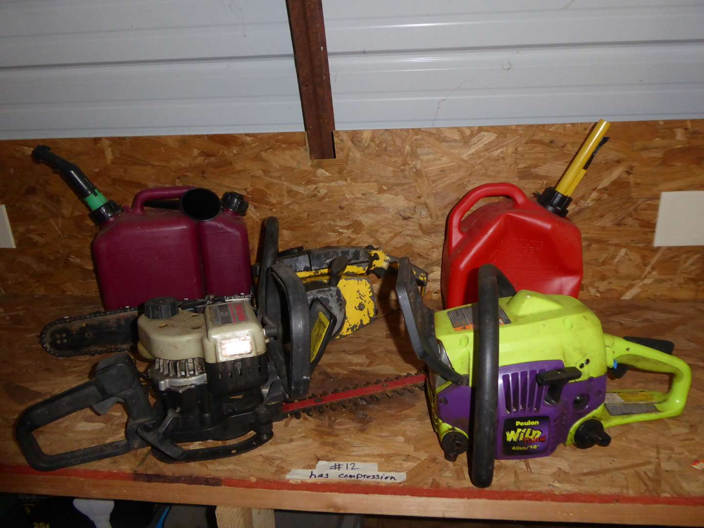 Lot # 12 - Poulan Wild Thing Chain Saw, Mcculloch 10-10 & Craftsman Hedge Trimmer  (main image)
