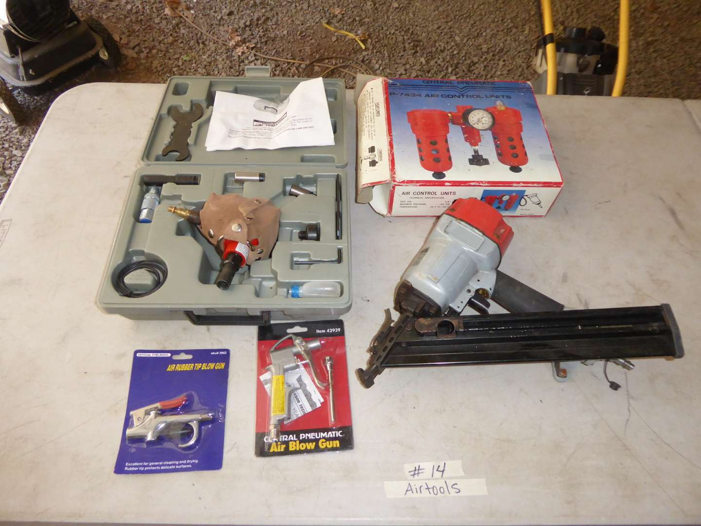 Lot # 14 - Air Hand Nailer Kit, Air Control Units & Air Blow Gun (main image)