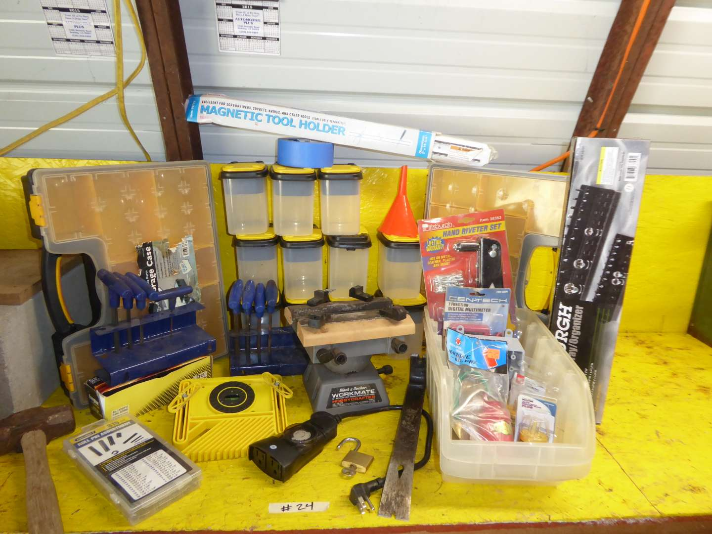 Lot # 24 - Hardware Storage, Magnetic Tool Holder & More  (main image)