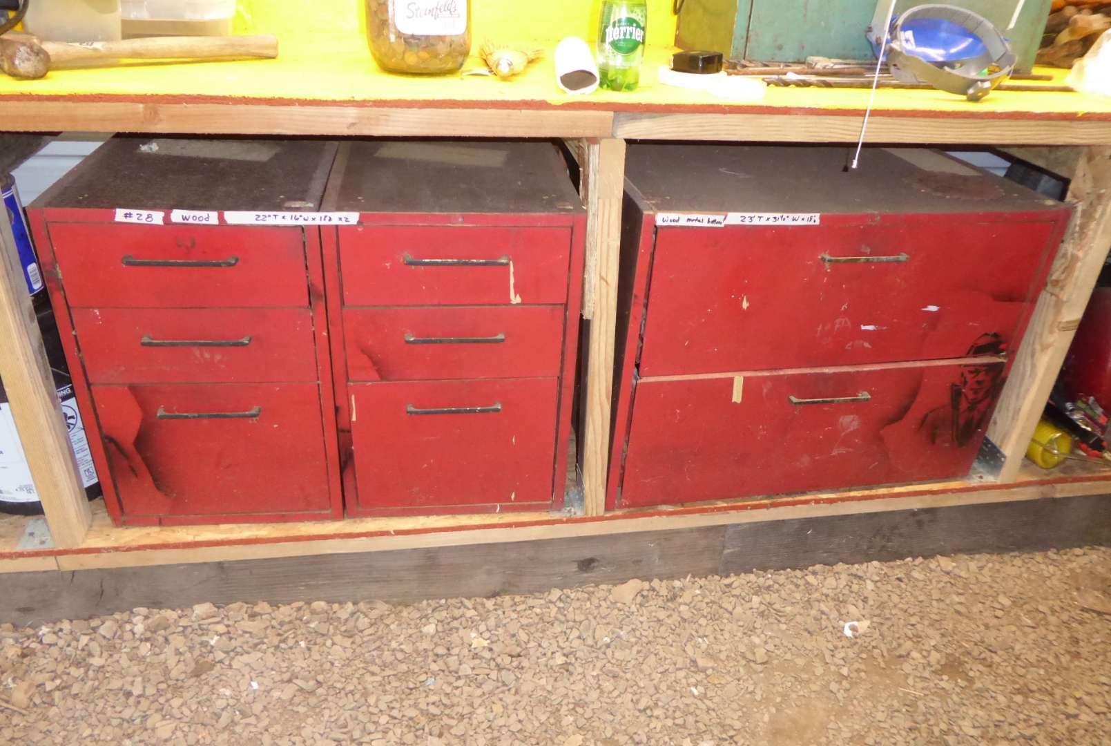 Lot # 28 - Two Wooden Shop Cabinets (Contents Included) (main image)
