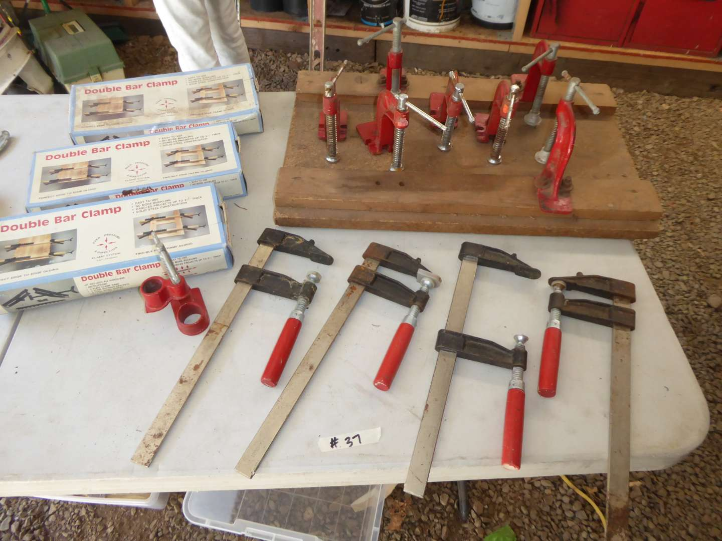 Lot # 37 - Double Bar Clamps & Other Clamps  (main image)