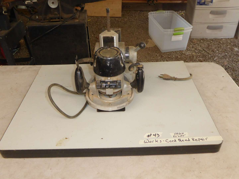 Lot # 43 - Craftsman Pin Router (Works) Cord Needs Repair  (main image)